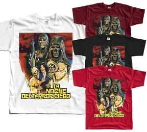 Tombs of the Blind Dead, movie poster 1971, T-Shirt (BLACK,RED) ALL SIZES S-5XL