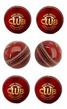 Club Leather Cricket Ball Red Pack of 6 Balls