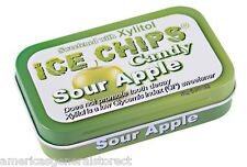 SOUR APPLE Ice Chips Candy xylitol-sweetened 1.76oz no-dairy-sugar