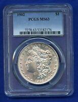 1902 P PCGS MS63 Morgan Silver Dollar $1 Rare Date 1902-P MS-63 PQ Coin !