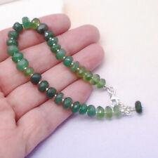 Vesuvianit grün green Perlen Steine Armband Armschmuck 925 Sterling Silber neu