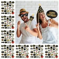 New 16/18/21st/30/40/50/60th Birthday Party Anniversary Decor Photo Booth Props