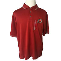 New Utah Utes Mens Pro Player Polo Shirt Red Embroidered Logo Size Large NCAA