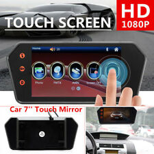 1080P Car 7'' Touch Mirror Rearview Monitor Video Player FM/USB/TF Bluetooth 12V