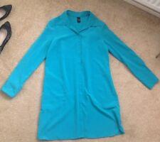 Tu Modelage Wan Bright Green Long Blouse Shirt dress size 14 Hidden Buttons Sainsbury