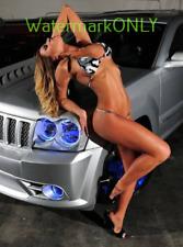 "SUPER ULTRA HOT Bikini Car Babe and Jeep ""Pin-UP"" PHOTO! #(149)"