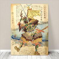 "Vintage Japanese SAMURAI Warrior Art CANVAS PRINT 24x18""~ Kuniyoshi  #060"