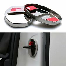 2x S Line Sline Car Door Lock Cover Alloy Buckle For Audi A3 A4 A5 A6 Q3 Q5 S67