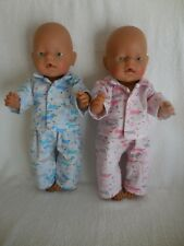 "BABY BORN 17""  DOLLS CLOTHES PUPPY DOGS FLANNELETTE PJ'S"