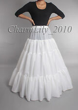 WHITE A LINE 3 layers BRIDAL WEDDING PETTICOAT UNDERSKIRT PROM DRESS CRINOLINE