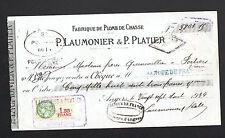"""ANGERS (49) USINE de PLOMBS de CHASSE """"P. LAUMONIER & P. PLATIER"""" en 1934"""