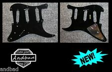 Fender Stratocaster style pickguard 8 holes 1 ply Black (made in japan)