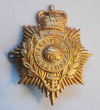 ROYAL MARINES QUEENS CROWN BRASS HELMET PLATE