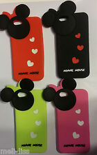 New Disney-Minnie Mouse- Soft Rubber 3D Cover Case  Silicone Skin for iPhone 5