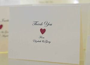 Personalised Handmade Wedding Thank You Cards. Victoria