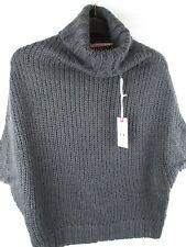 Ladies SH Collezione Grigio a trama grossa maglione collo in stile polo-NUOVO CON ETICHETTE-UK Taglia M
