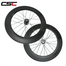 700c 88mm tubular track carbon wheelset/ fixed gear carbon wheels