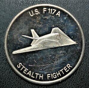 Desert Shield, Stealth Fighter 1 oz. Fine Silver Round