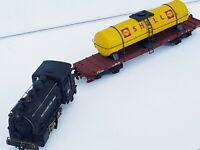 Rivarossi Locomotive Baltimore and Ohio 98 and Shell Oil wagon1950's