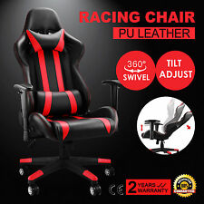 High Back Racing Gaming Chair Race Car Seat Red&Black PU Leather Rocker GREAT