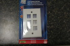 New 140240-00-D Monster 6 Port Computer Wall Plate White New