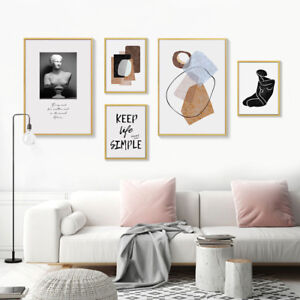 Sculpture Modern Abstract Canvas Poster Nordic Wall Art Print Decoration Picture