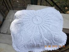 """Crochet full lace cushion cover size 12"""" color White"""