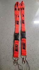 Nike  Lanyard Detachable Keychain Badge ID Holder Free Shipping ! 2 pieces