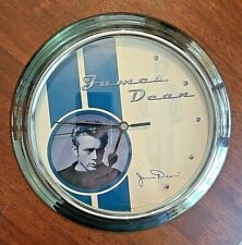 "Collectible James Dean Legendary Movie Star QUARTZ WALL CLOCK 10"""