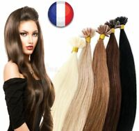 50-200 EXTENSION DE CHEVEUX POSE A CHAUD 100% NATUREL REMY HAIR 49-60CM U TIP 3A