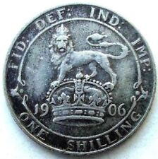 GREAT BRITAIN , ONE SHILLING 1906, EDWARD VII, SILVER 0.925
