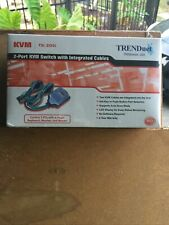 Trendnet Tk-205i 2 Port Kvm Switch with Integrated Cables. Brand New