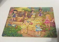 Disney Princess Wooden Puzzle Mulan, Belle, Jasmine,  Aurora Snow White 6 Pieces