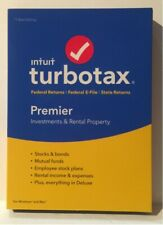2018 Tax Year Turbo Tax Premier Federal/State Windows/Mac NEW Sealed