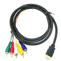 5Ft HDMI Male to 5 RCA 5-RCA RGB Audio Video AV Component Cable Gold Plated 1.5M