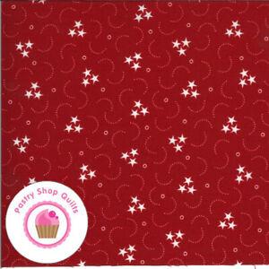 Moda AMERICAN GATHERING 49128 13 Red Stars PRIMITIVE GATHERING Quilt Fabric