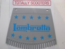 LAMBRETTA REMADE METALPLAST BLUE AND GREY MUDFLAP WITH TASSELS TOP QUALITY