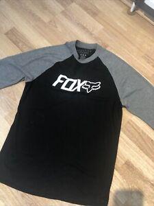 Fox mtb jersey / long sleeve T-shirt - Men's Small - Grey/black Great Condition
