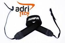 Cinghia Tracolla nero Neck Strap Nylon fotocamera FOR OLYMPUS Compatibile nera