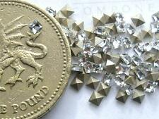 18 x Swarovski 2mm x 2mm Crystal diamanté silver-foiled #4428 squares