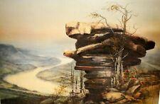 """Ben Hampton, """"River Bend"""", 18""""x26"""", Print"""