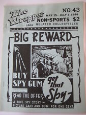 vtg THE WRAPPER True Spy Stories Bubly Nu Card Dinosaur antique Red Menace set