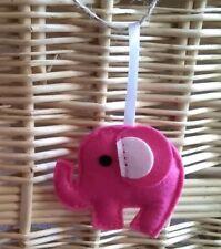 Handmade felt Dark Pink Elephant hanging decoration ideal for gift