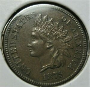 1879 Indian Head Cent Better Date Very Close To UnCirculated