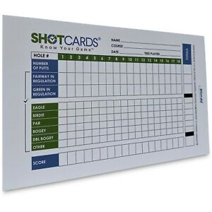 SHOTCARDS Standard Edition (Blue/Green) - Golf Shot and Stat Tracking Scorecards