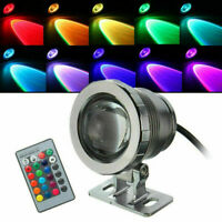 1-5X 10W/20W RGB LED Light Fountain Pool Pond Spotlight Underwater Light +Remote