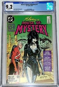Elviras House Of Mystery #7 DC Comics 1986 CGC 9.2