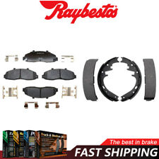Front Ceramic Brake Pads Hardware & Rear Shoes For 2000-2001 Ford F-150
