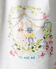NEW ANTHROPOLOGIE HOME Kitchen You & Me Bunny Rabbit Couple Tea Dishtowel