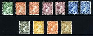 FALKLAND ISLANDS Queen Victoria 1891-02 Wmk Crown CA Part Set SG 15 - SG 38 MINT